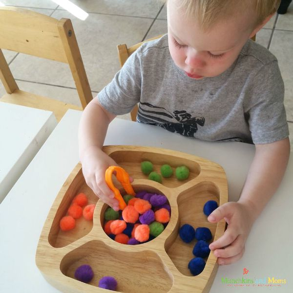 Preschool color sorting game