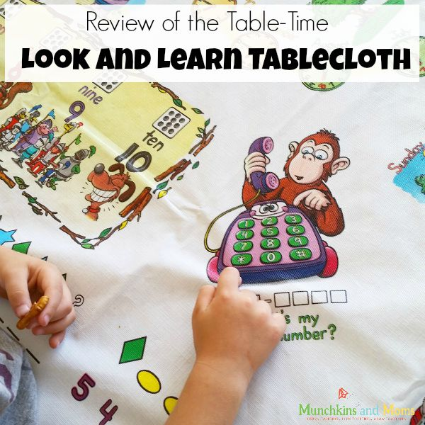 Table-Time look and learn tablecloth review