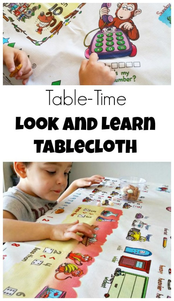 Make learning easy with this look and learn tablecloth!