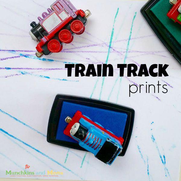 Make simple train track prints for littel engineers!