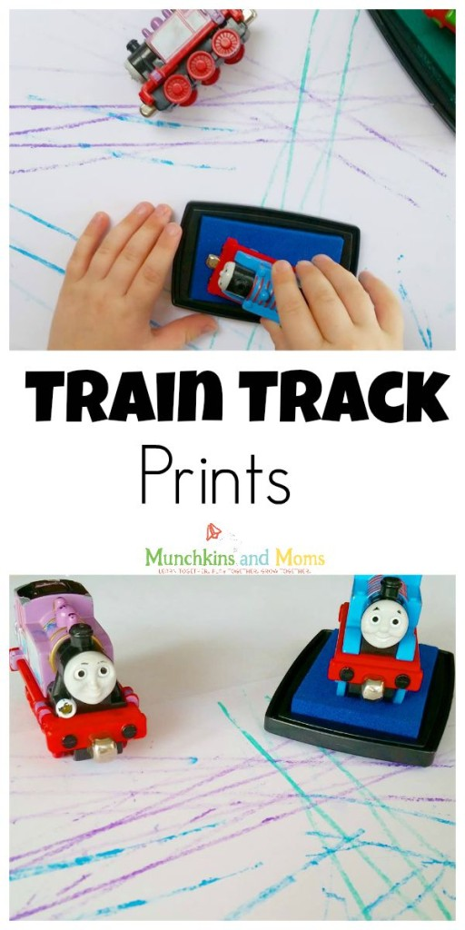 A fun printing activity with toy trains!
