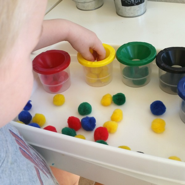 toddler color sorting activity
