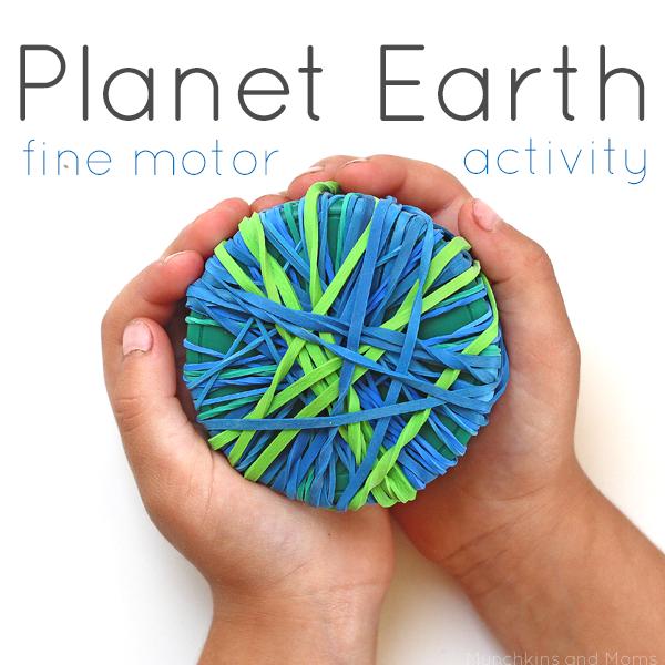 Planet Earth Fine Motor Activity