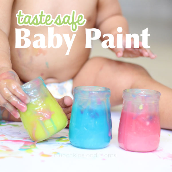 Taste safe baby paint- I cannot handle how perfect this is!