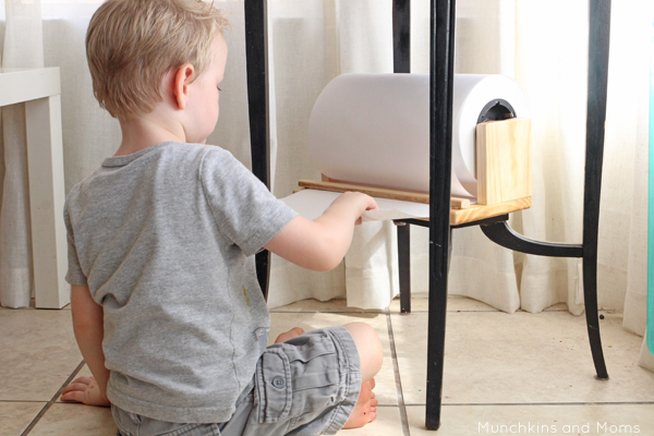 How to set up a preschool art center in tight spaces