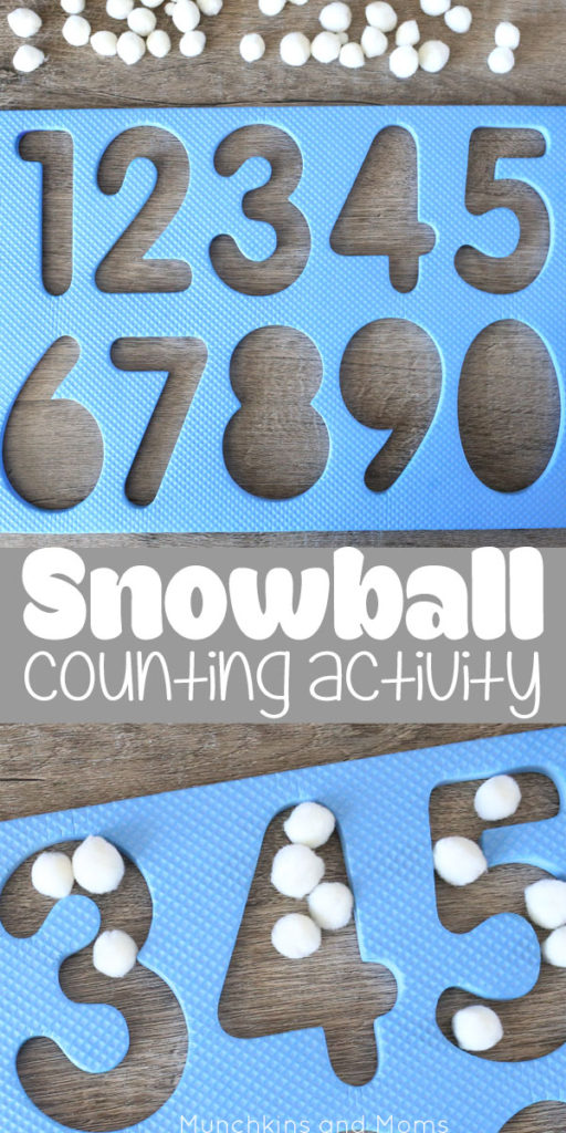 Snowball counting- a great number  recognition and counting activity for preschoolers! Pair with the book The Snowy Day for literacy tie-in.