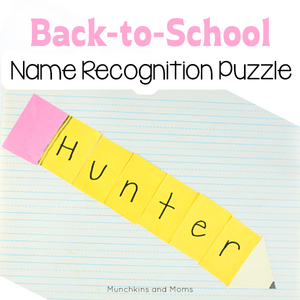 Name recognition puzzle for preschoolers