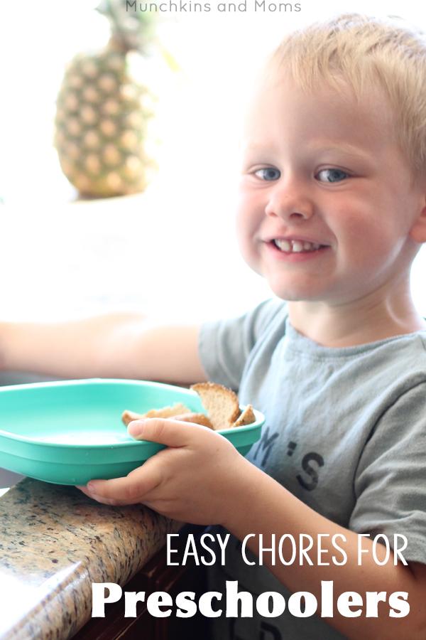 Easy chores for preschoolers