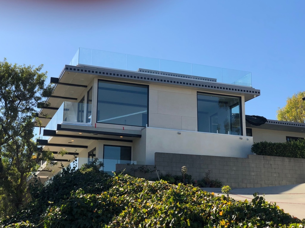 Front of custom home architectural design beautiful modern