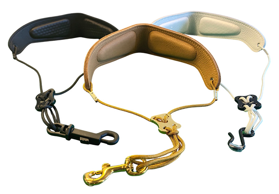 three colors of sax gel straps