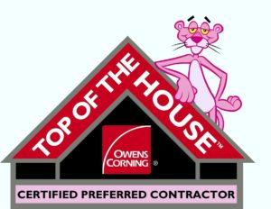 Owens Corning Top of The House / Certified Preferred Contractor Logo