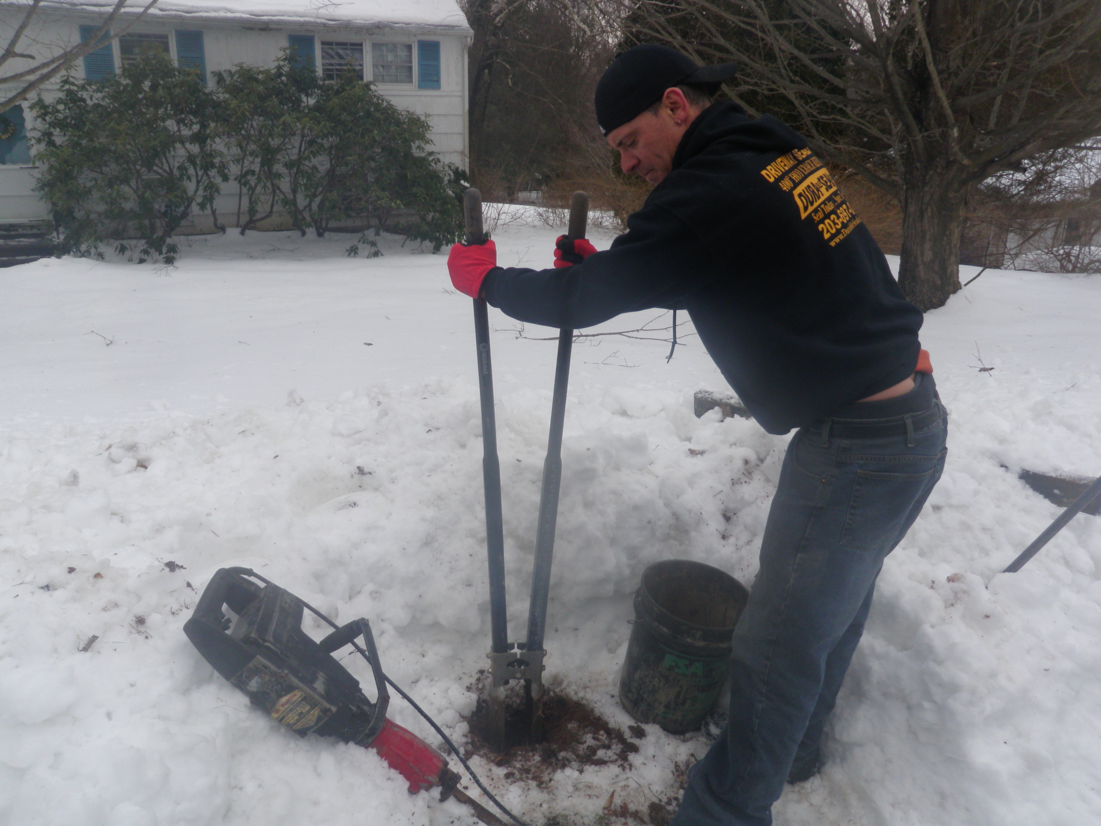 Digging New Hole for Mailbox Post by Hand