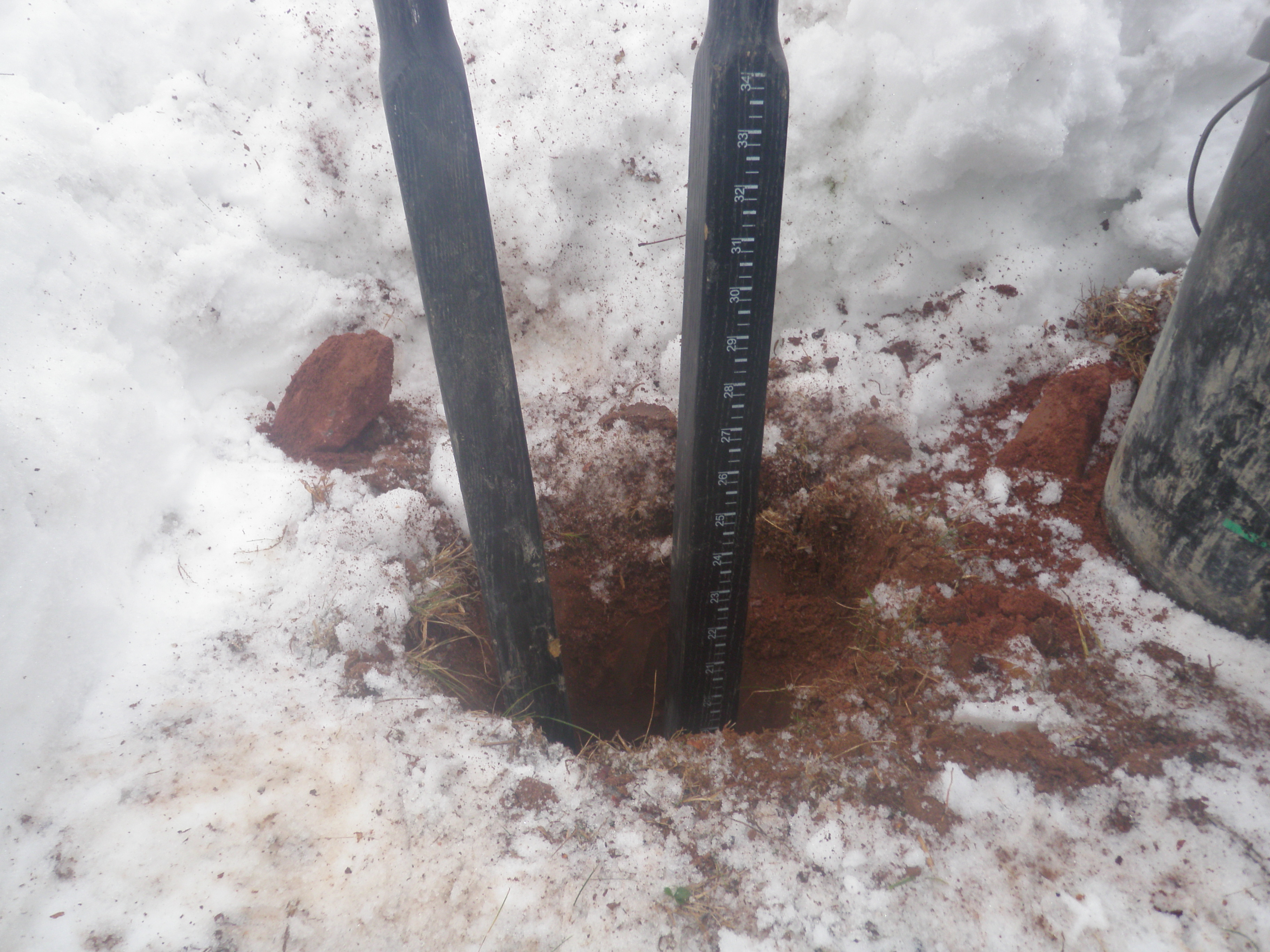Digging New Hole for Mailbox Post