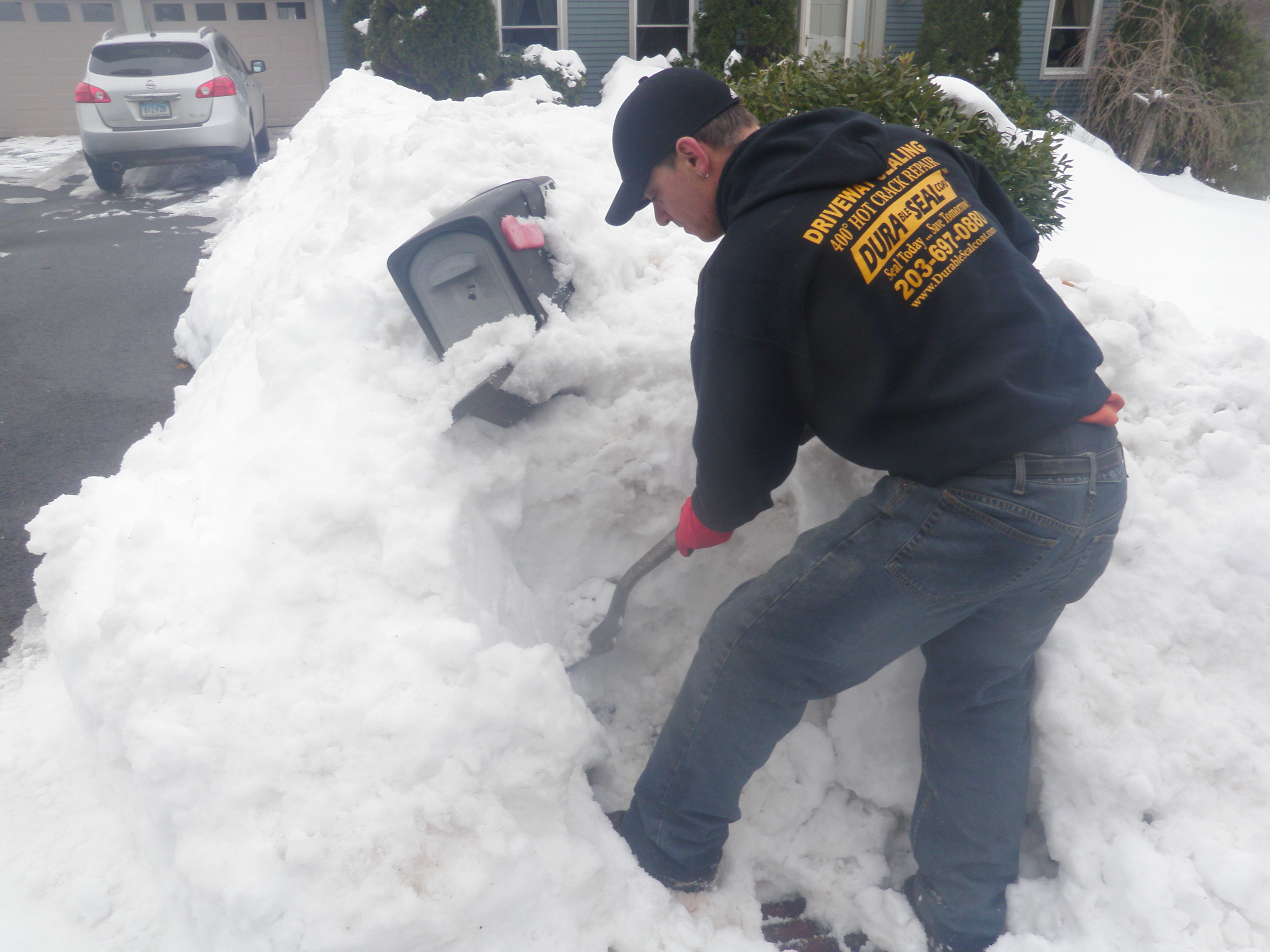 Digging Out Old Mailbox