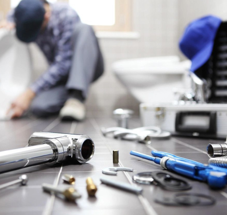 plumber and tools