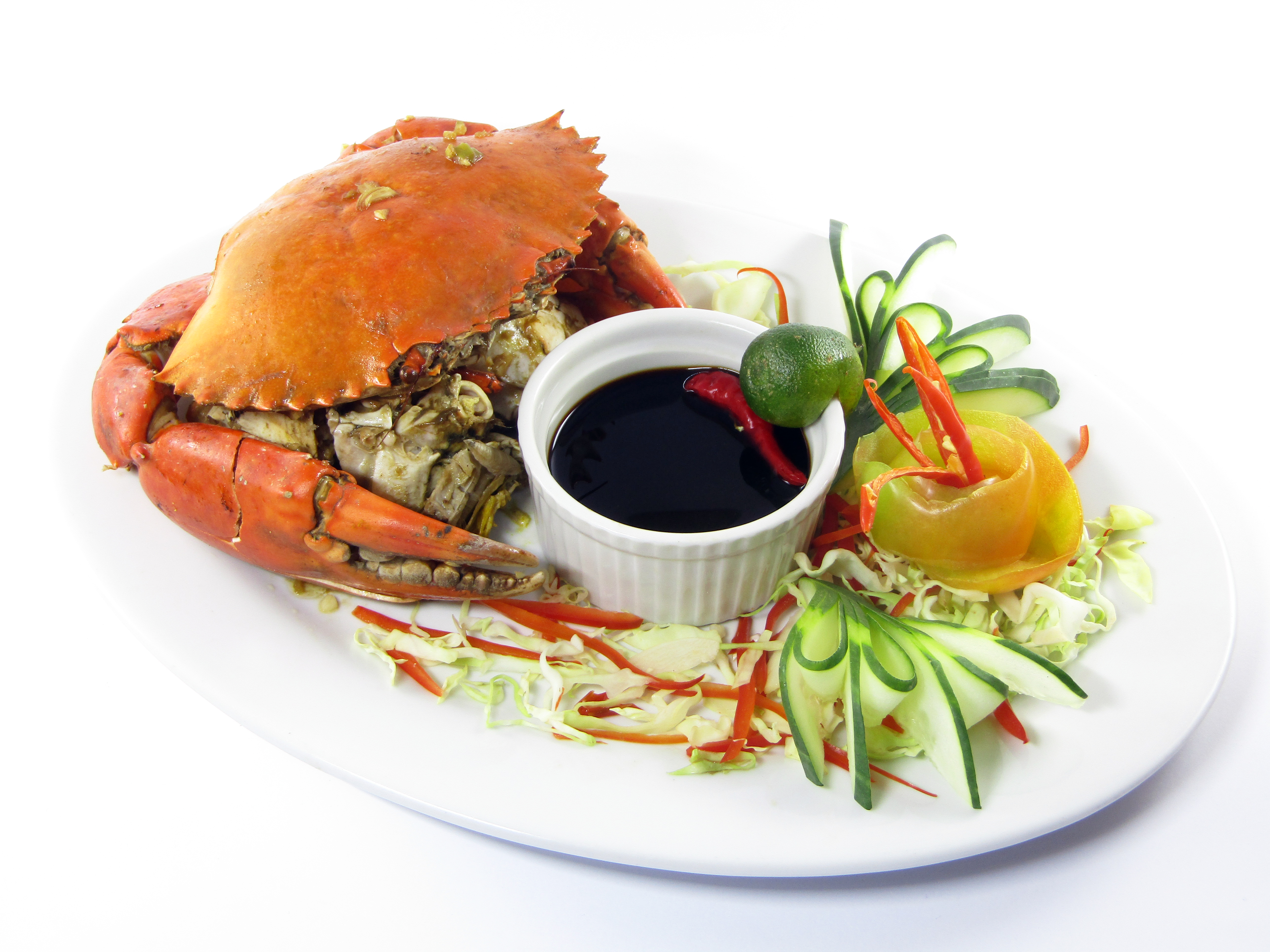 Steamed King Crab with Special Sauce