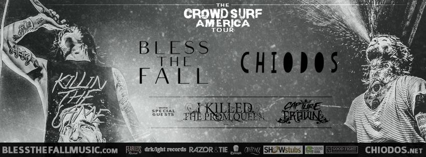 Chiodos Blessthefall Banner
