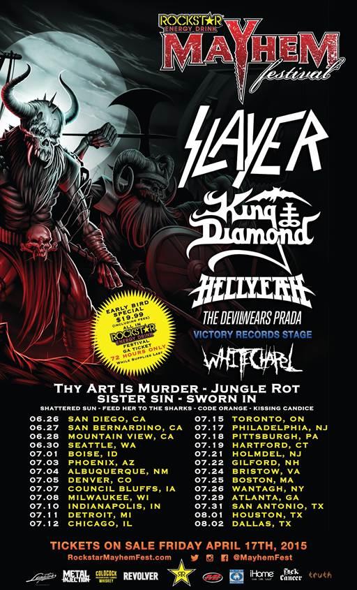 Mayhem Festival 2015 Lineup
