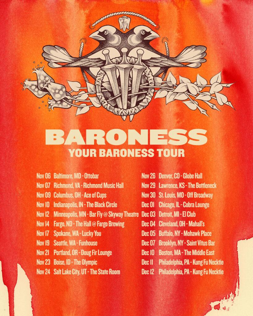 Baroness 2021 tour