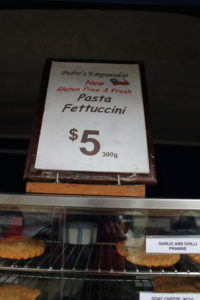 Pedro's Gluten Free Pasta at the Marlborough Farmers Market