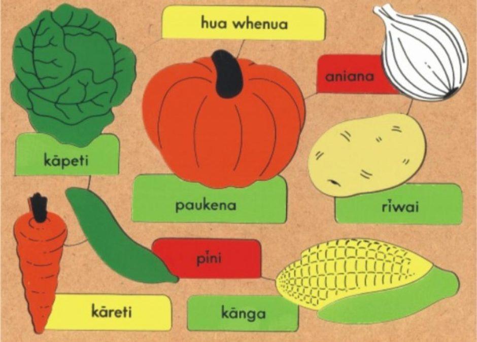 Celebrating Maori Language week with vegetables in Te Reo Maori