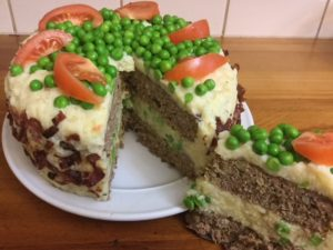 Shepard's pie cake great with chow chow pickles