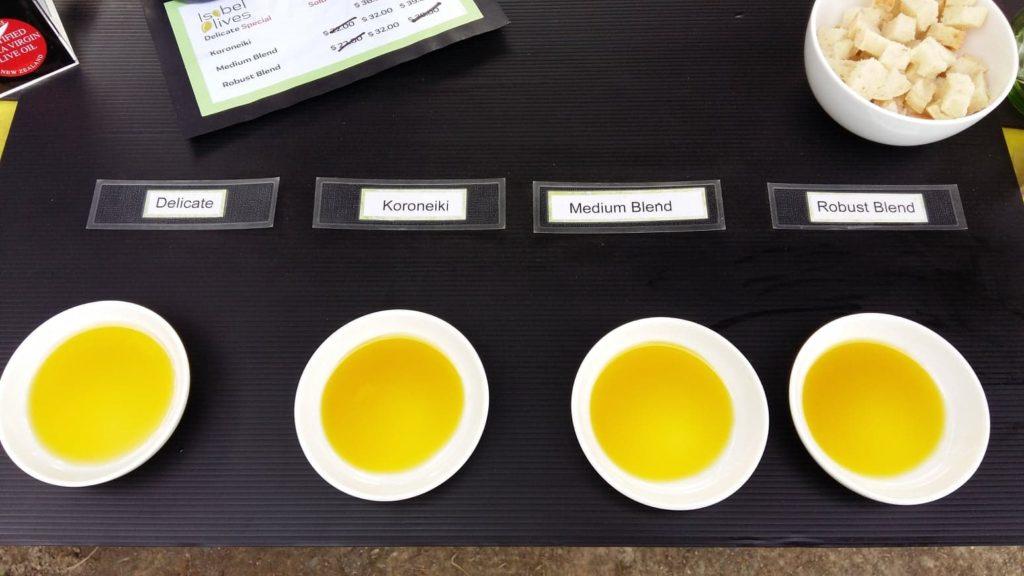 Isobel Olive oil tasting