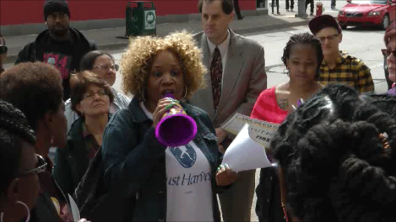 Rochelle Jackson at 4/14 DPW GPE rally