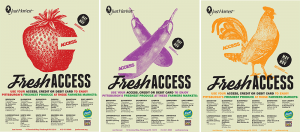 Three Fresh Access posters