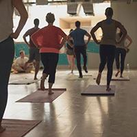 Organically Social yoga class