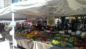 Edible Earth Farms at the farmers market