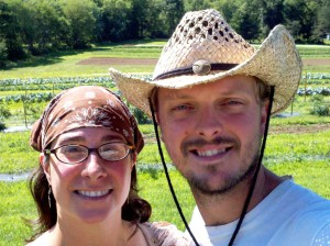 Edible Earth Farm managers April and Johnny Parker