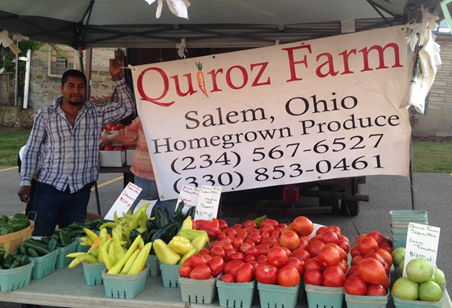 Quiroz Farm from Salem, Ohio - homegrown produce