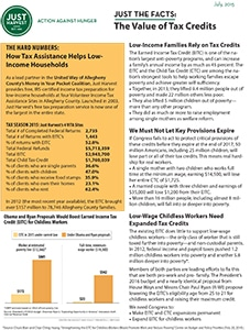 The Value of Tax Credits for Low-Income Families Fact Sheet