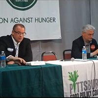 Bob Palmosina and James Ellenbogen, Candidates for Allegheny County Council Dist. 12 at our May 2 Candidates Forum on Hunger and Poverty