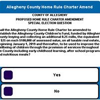 2018 Allegheny County Home Rule Charter Amendment ballot question about the Children's Fund