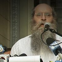 Ken Regal speaks at the 7/13/21 Rally at City Council building over the American Rescue Plan funds