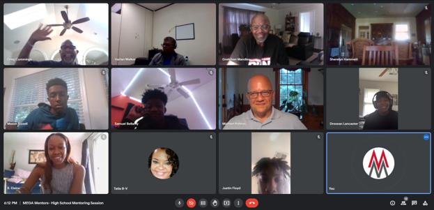 High school virtual mentoring screenshot