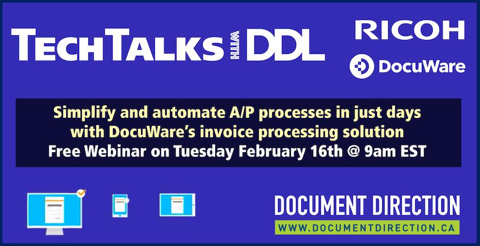 TechTalks with DDL - simplify A/P free webinar Feb 16th at 9am