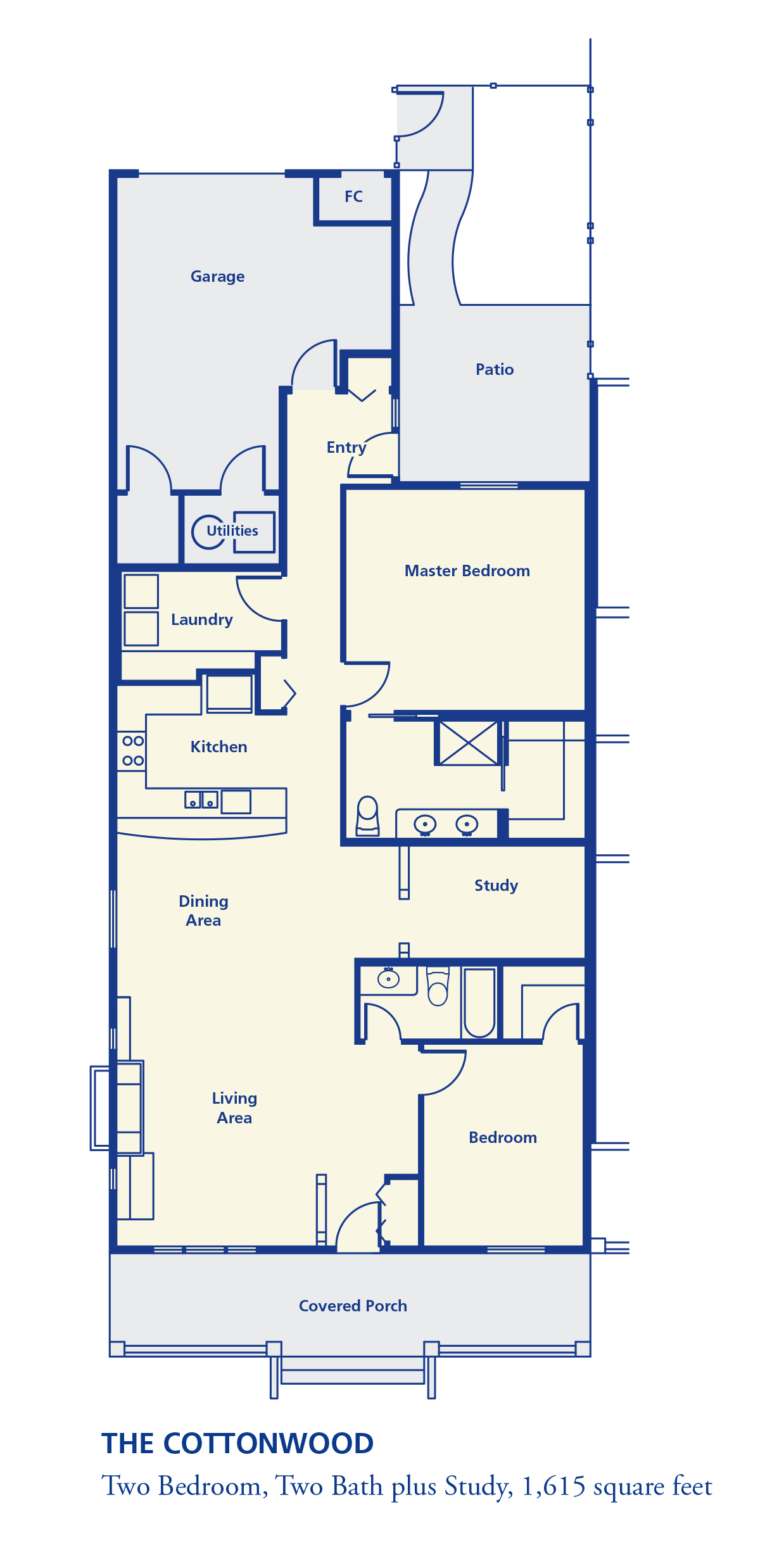 The Cottonwood Two bedroom two bath 1600+ square feet senior independent retirement residence living Denver
