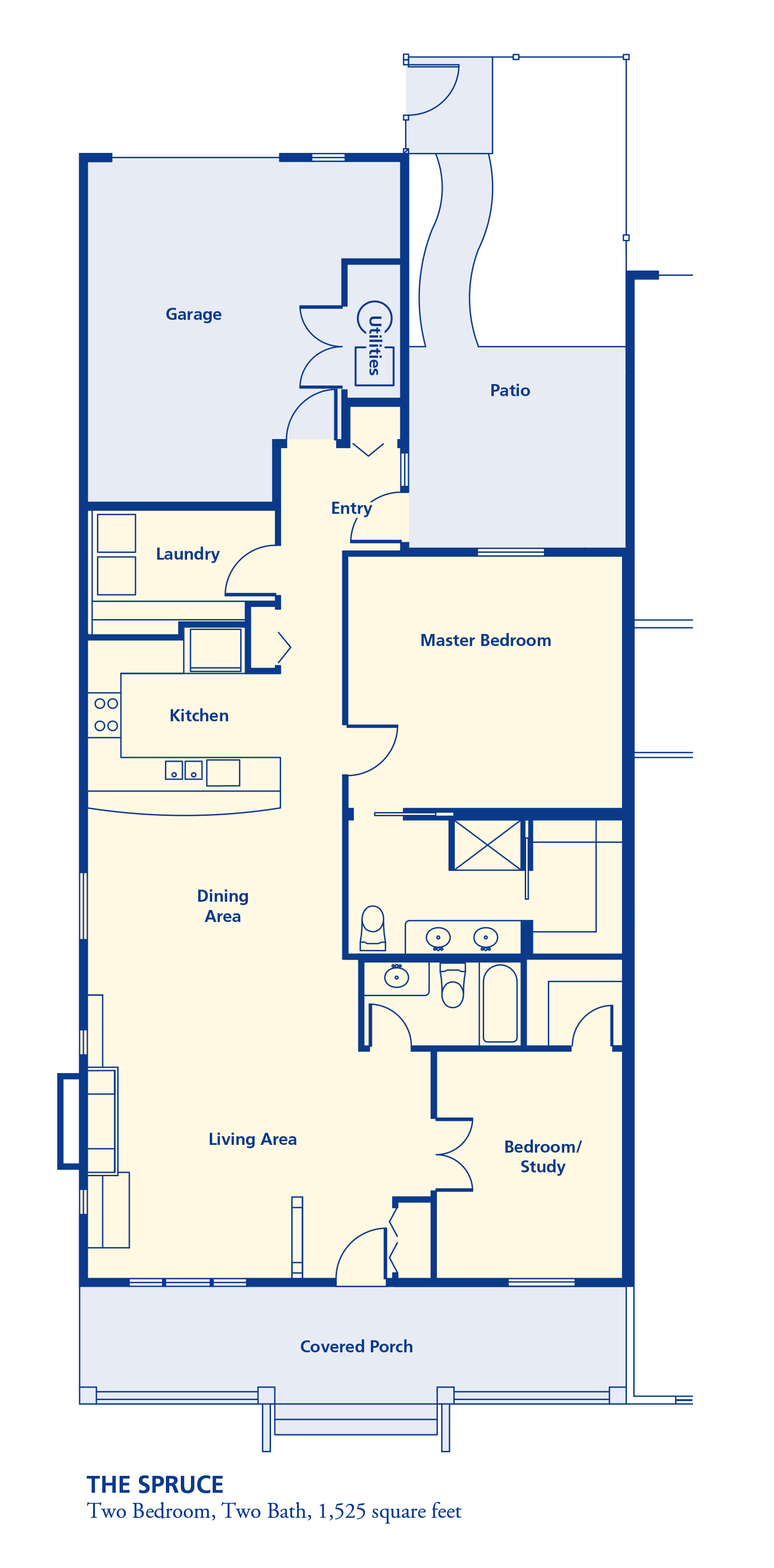 The Spruce Two bedroom two bath 1525 square feet senior independent retirement residence living Denver