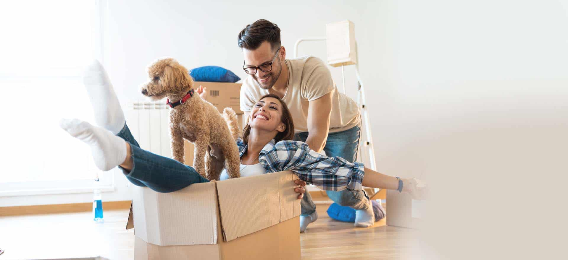 Leva Living Couple Moving Boxes Image