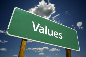 Practice positivity by listing the values that are most important to YOU and trying to live them out each day.