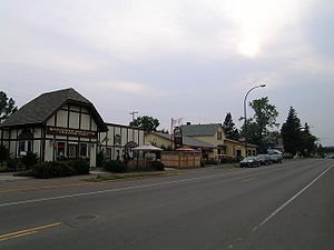 Storefronts in Two Harbors, Minnesota