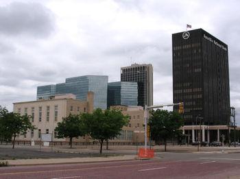 A shot of downtown Amarillo, Texas, U.S.A.