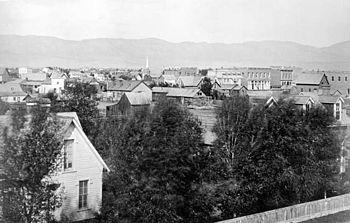 Fort Collins, facing west (1875)