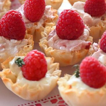 raspberry phyllo cups