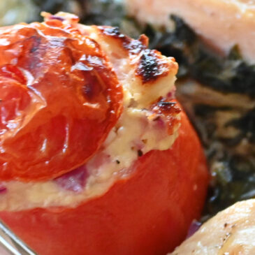 Feta & Oregano Stuffed Tomatoes