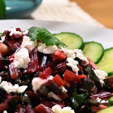 Sautéed Beet Green Salad with Garlic & Lemon