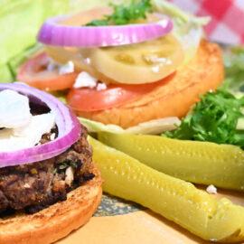 Lamb Burgers with Chèvre